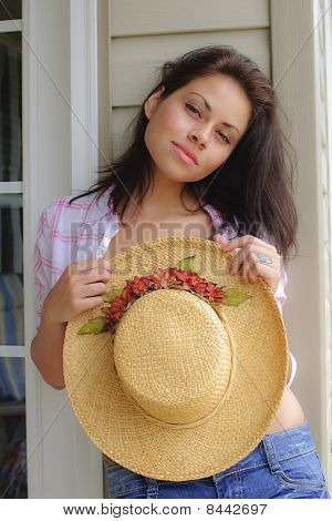 Beauty With Hat