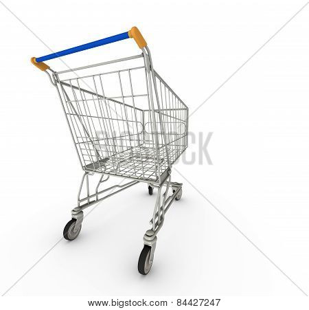 Wide Angle Shopping Cart