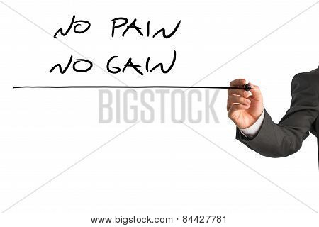 No Pain No Gain Sign In A Conceptual Image
