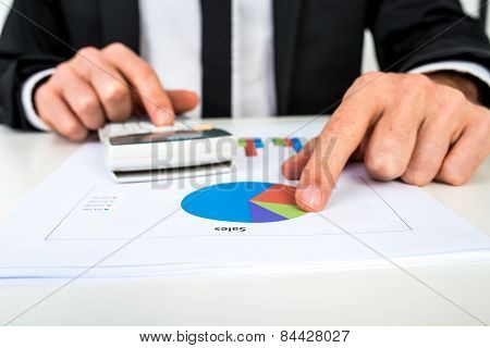 Financial Adviser Calculating Numbers