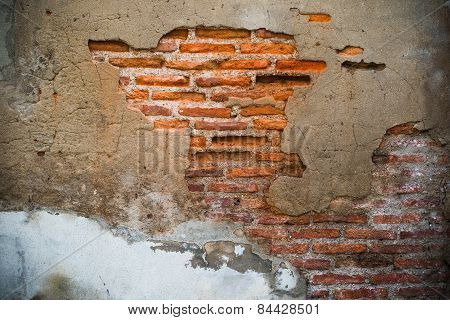 Old And Damage Brick Wall Use As Abstract Background ,backdrop And Multipurpose Texture