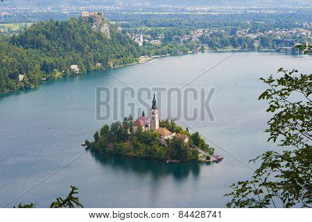 Lake Bled And Bled Island (blejski Otok)