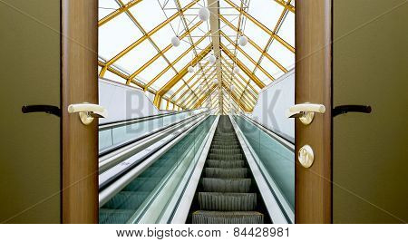 Escalator Stairs Open Door