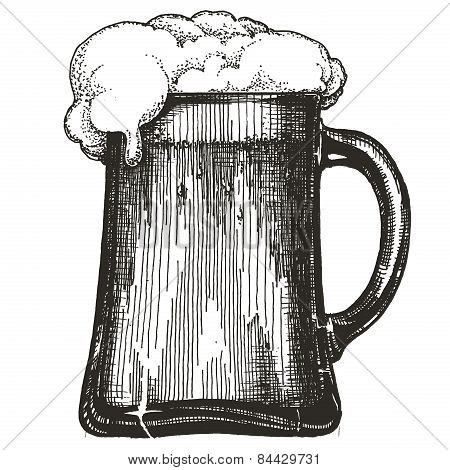 beer mug vector logo design template. draught beer or alcoholic drink icon.
