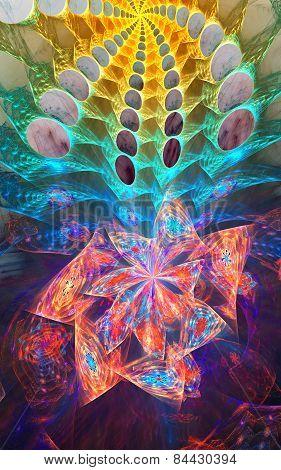 Fractal flower background
