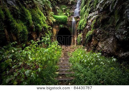 Hidden tunnel near Sydney, New South Wales, Australia