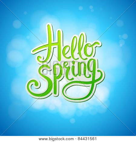 Happy sparkling Hello Spring card design