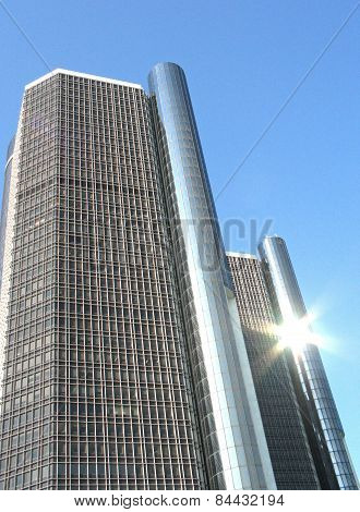 Rencen Towers And Sunburst