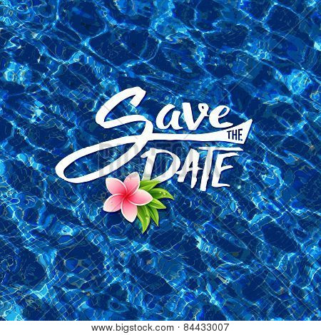 Save The Date tropical card design
