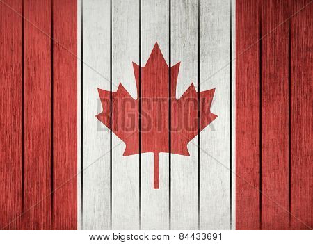 Wooden Flag Of Canada