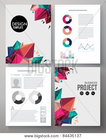 Colorful design template for a business project