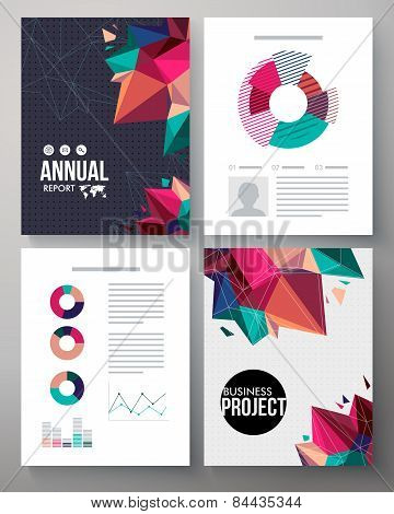 Brochure template design for an annual project