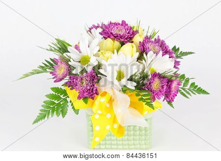 Spring Flower Arrangement In Vase