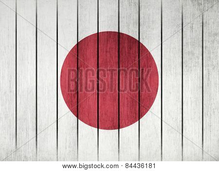 Wooden Flag Of Japan