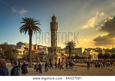 The Clock Tower in Izmir, Turkey