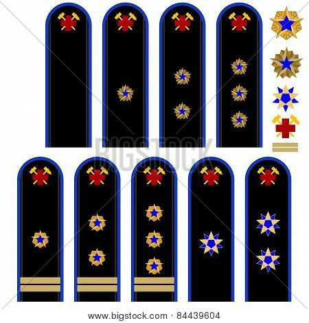 Insignia Russian emergency workers