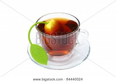 Tea Cup With An Infuser In It