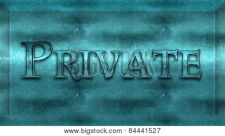 Metal Bright Blue 3D Private Area Plaque