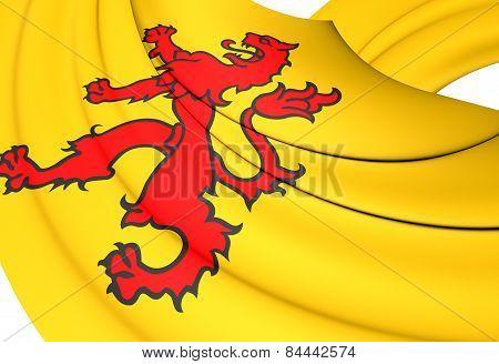 Flag Of South Holland, Netherlands.