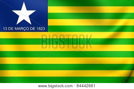 Flag Of Piaui, Brazil.
