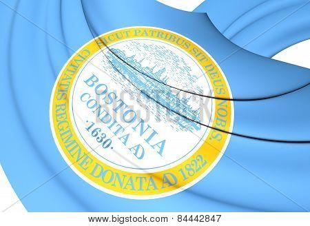 Flag Of Boston, Usa.