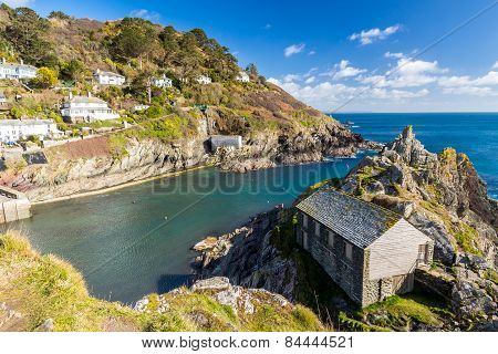 Net Loft Building At Polperro Cornwall