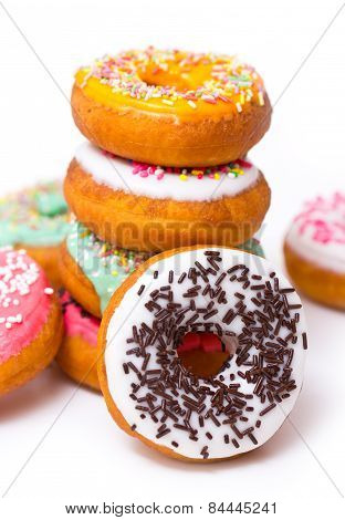 Colorful fresh doughnuts