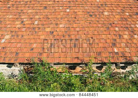 Old Rural House With The Orange Tiled Roof