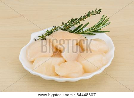 Raw Scallops