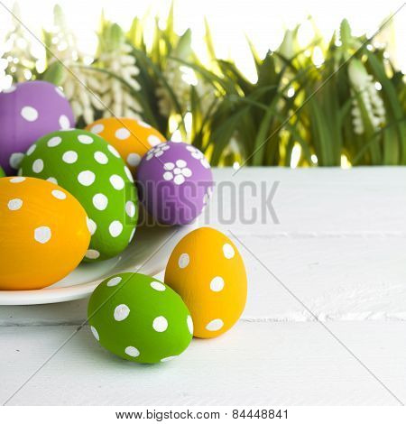 easter eggs hidden in the grass
