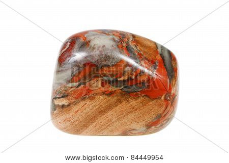 Jasper Mineral Isolated On A White Background