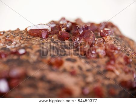 Vanadinite Red Crystals, Mineral Extreme Close-up