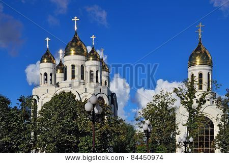 Orthodox Churches In Victory Square. Kaliningrad, Russia