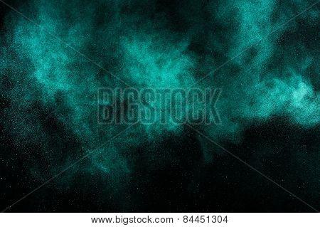 Abstract aquamarine  paint  Holi.