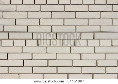 White-gray Wall Of Sand-lime Brick With Dark Gray Cement Seams
