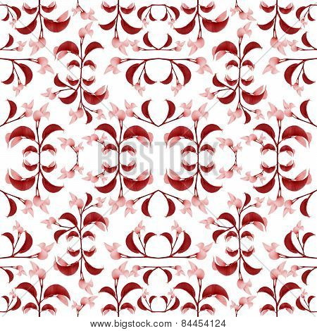 Red Floral Print Pattern