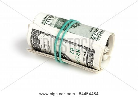 United States Dollars, Roll Of Hundred Usd Banknotes