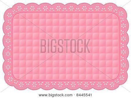 Pink Eyelet Place Mat