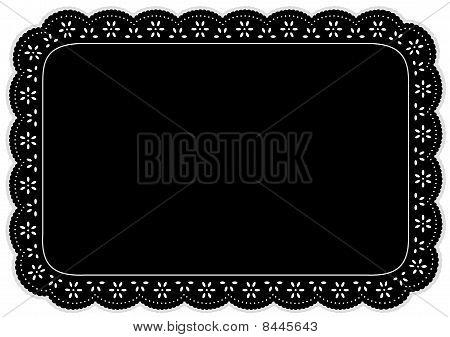 Black Eyelet Lace Place Mat