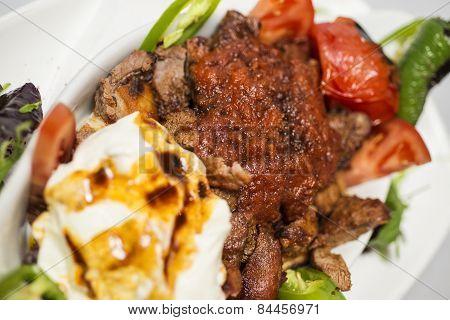 Traditional Turkish food - Iskender kebap