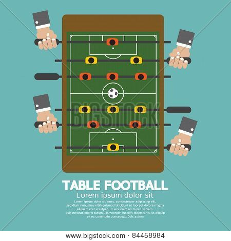 Top View Of Table Football.