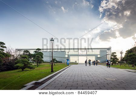 Tokyo, Japan - November 26, 2013: People Visit Observation Building In Kasairinkai Park