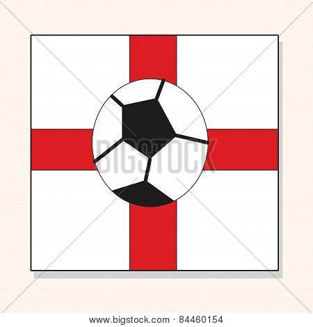 England Soccer Team Flag Theme Elements Vector,eps