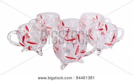 Glass Cup. Glass Cup On A Background. Glass Cup On A Background