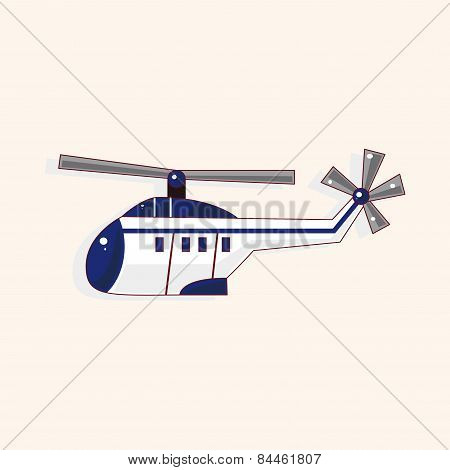 Helicopter Theme Element Vector,eps