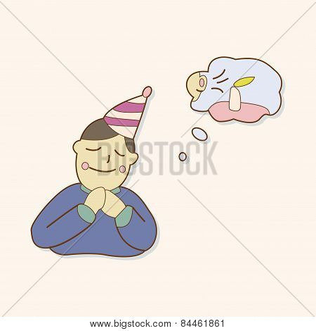 Birthday Make A Wish Theme Elements Vector,eps