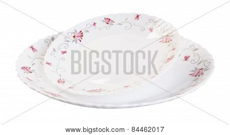 Plate On Background