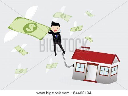 House Debt Concept