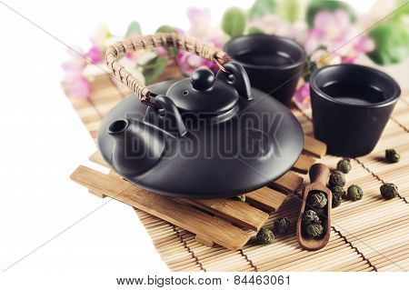 Still Life with Asian teapot