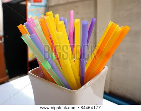 Colorful Plastic Drinking Straws